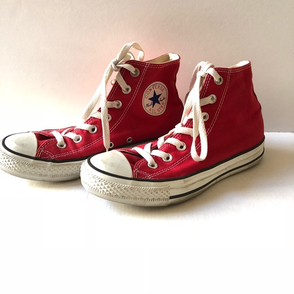 Converse Shoes   Converse Red High Tops